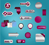 Vector business buttons mega-pack. You can use it for your online shop, business website, blog, artwork. You can edit any button as you like.