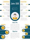 Cool modern resume curriculum vitae design