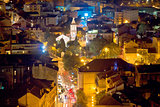 City of Sibenik aerial night view
