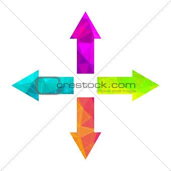 Bright arrow icon set