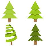 Christmas Tree Icon Set