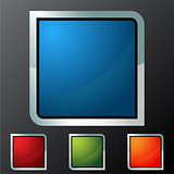 Square Button Icon Set