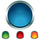 Circle Button Icon Set
