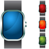 Wristband Button Icon Set