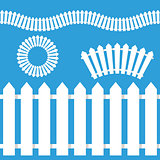 White Picket Fence Icon Set