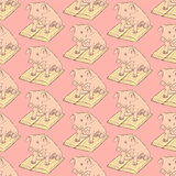 Sketch fancy pig in vintage style