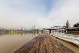 Floating Boat Dock on Willamette River