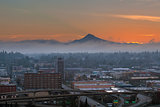 Portland City Eastside at Sunrise