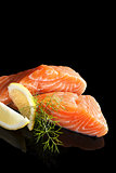 Luxurious salmon background.