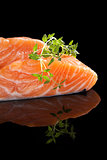 Salmon steak.