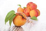 Delicious ripe apricots.