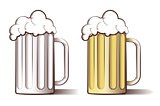 Vector illustration of beer in engraved style
