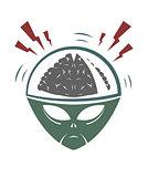 Vector illustration of evil alien invader