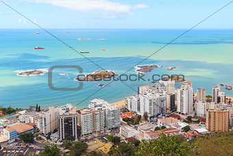 Beach Praia da costa and  Praia da Sereia, Vila Velha, Vitoria,