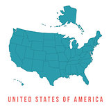 Map of USA with separable borders