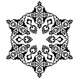 black artistic ottoman pattern series seventy two