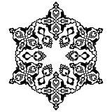 black artistic ottoman pattern series seventy two
