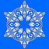 blue artistic ottoman pattern series seventy two