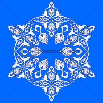 blue artistic ottoman pattern series seventy two