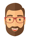 The hipster with a beard avatar
