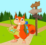 Traveler Squirrel follows the route