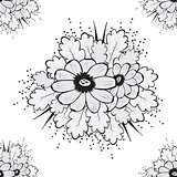 Abstract Beautiful Seamless pattern with flower
