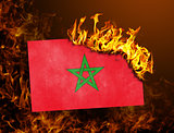 Flag burning - Morocco
