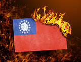 Flag burning - Myanmar