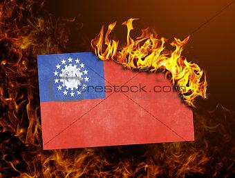 Flag burning - Myanmar