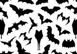 Seamless bats background