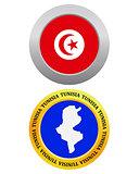 button as a symbol map TUNISIA