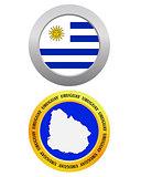 button as a symbol map URUGUAY