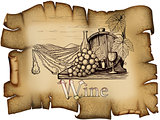 Vintage wine label