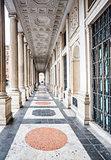 The Veii columns at Palazzo Wedekind, Rome, Italy