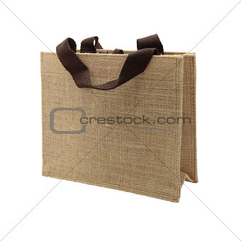 canvas bag isolated on white background