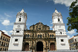 Panama City Central America Cathedral in plaza Mayor Casco Antig