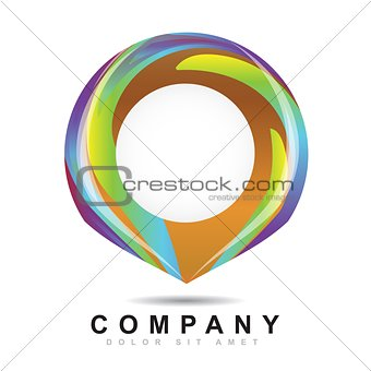 Abstract circle logo icon