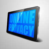 tablet Online Privacy