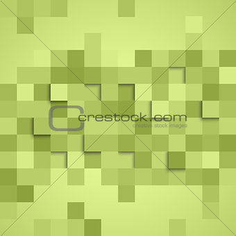 Abstract square green background