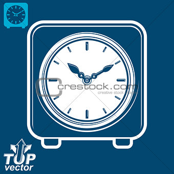 3d vector square stylized wall clock, includes invert version. T