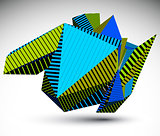 Cybernetic contrast element constructed from simple geometric fi
