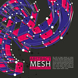 Abstract 3d mesh vector background, abstract conceptual illustra