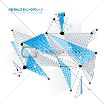 Abstract vector background, modern style technology and science theme layout, connection and communication 3d abstract mesh, clear EPS8.