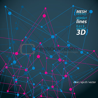 Clear eps 8 engineering vector illustration, 3d mesh symbol isol