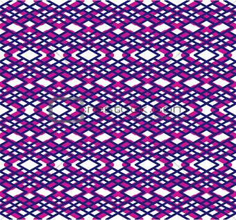 Bright abstract seamless pattern with interweave lines. Vector c