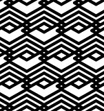 Black and white abstract ornament geometric seamless pattern. Sy