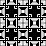 Seamless black and white geometric pattern, simple vector stripe