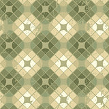 Old style tiles seamless background, vector pattern design with