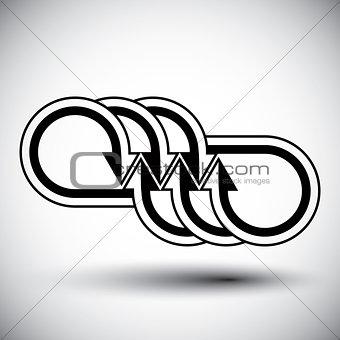 Arrows template conceptual icon, special abstract new idea vecto
