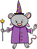 wizard mouse cartoon illustration